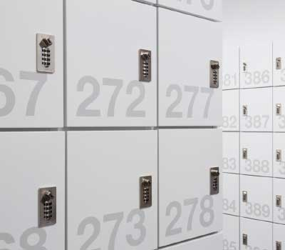 antimicrobial painted day lockers