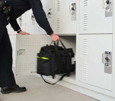 antimicrobial painted gear lockers