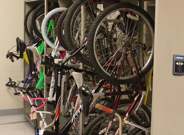bike police evidence equipment storage