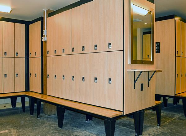 custom configured locker room locker