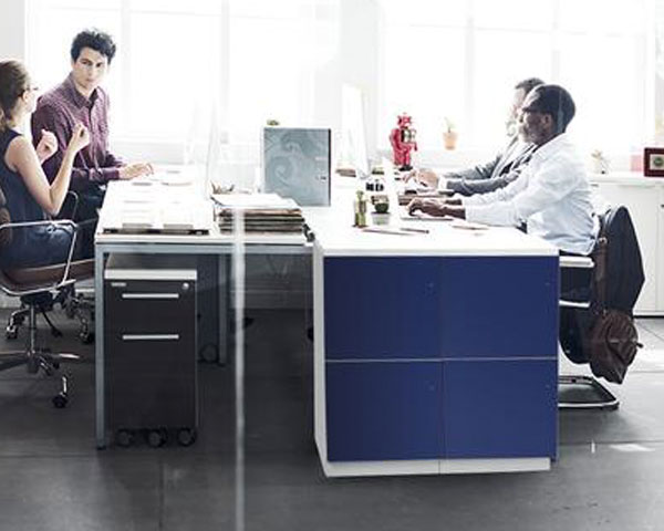desk secure employee storage