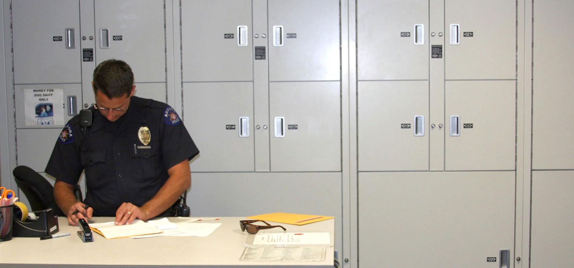 evidence locker room chain of custody