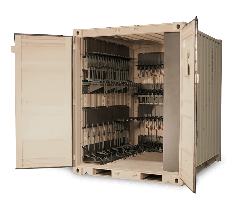 secure military weapon storage container storage
