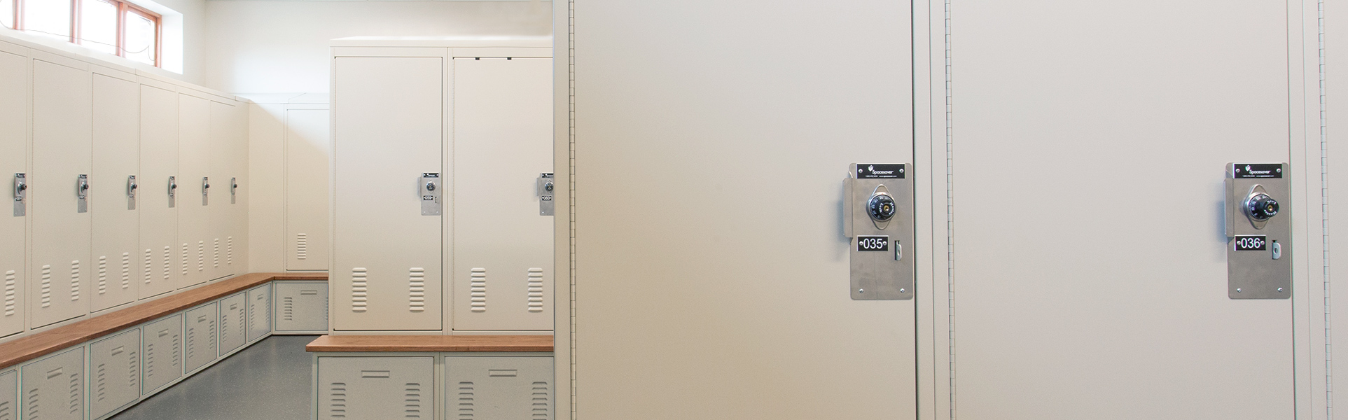 healthcare locker room personal locker storage