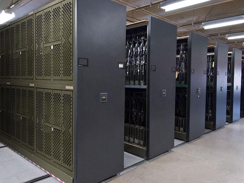 military weapon rack storage