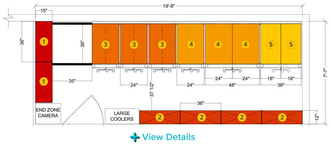 high school football equipment room space planning