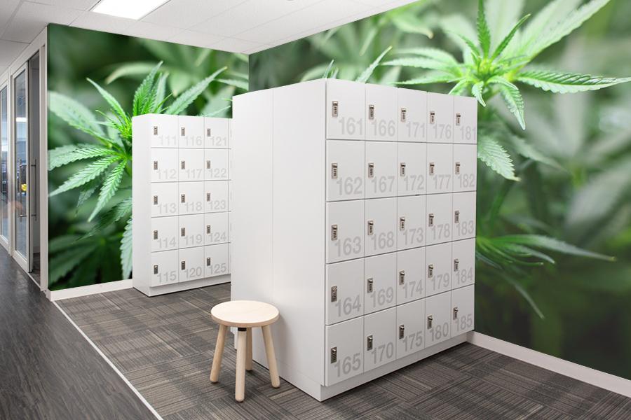indoor farming facility personal lockers
