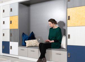 lockers open office