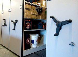 mechanical assist athletic storage