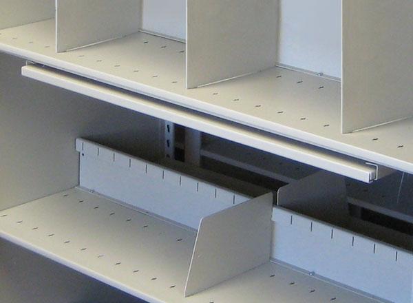 metal shelving dividers organization