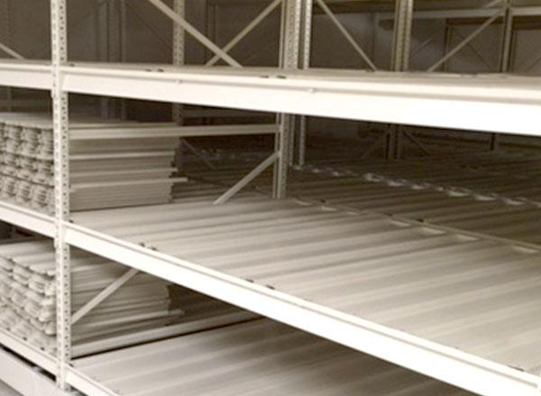 metal shelving ribbed steel storage