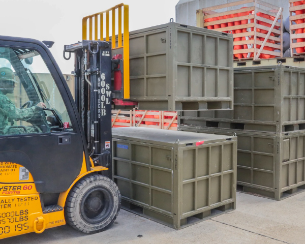 metal transport containers military deployment storage