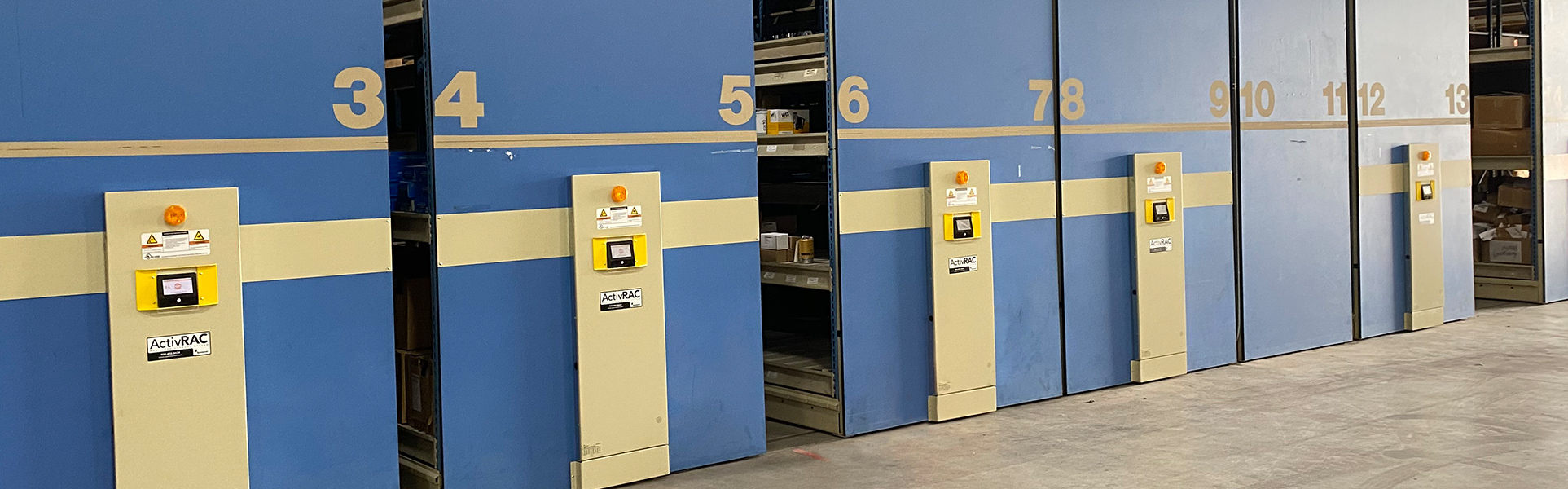 military mobilized pallet racking
