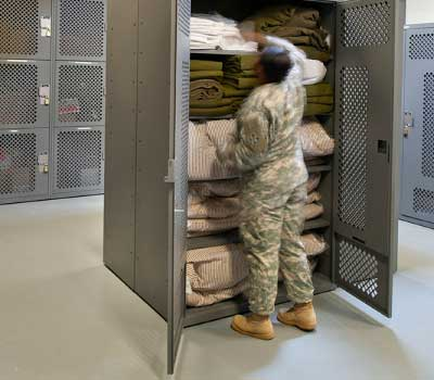 military portal gear lockers