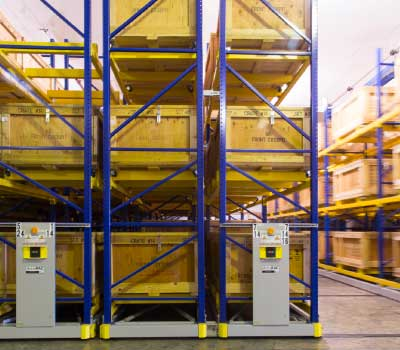 military preparedness warehouse racking supply storage