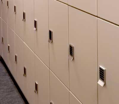 patient personal item lockers