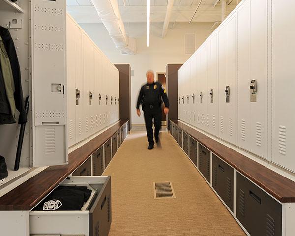 personal officer locker room