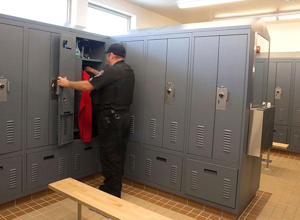 police locker room custom officer lockers