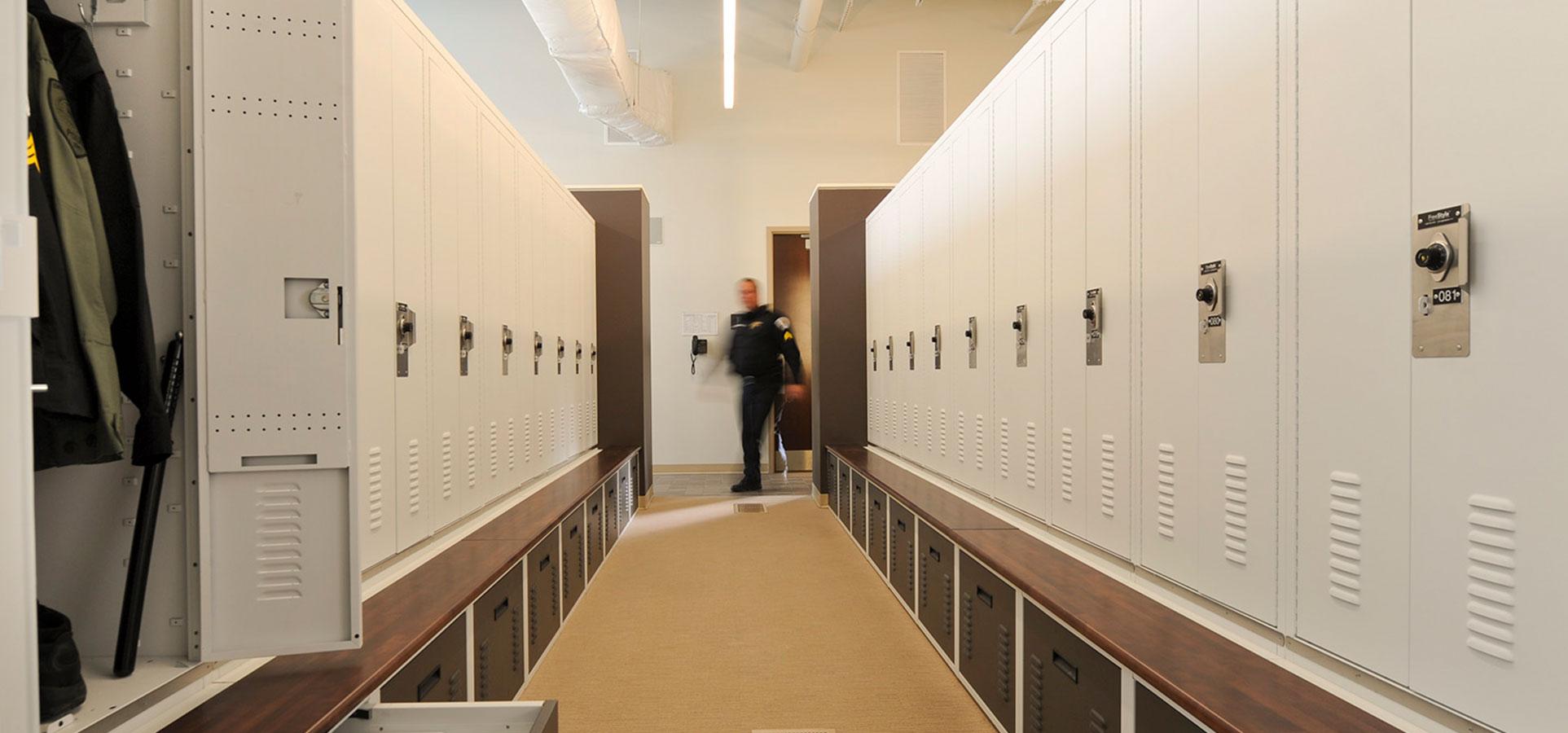 police locker room design