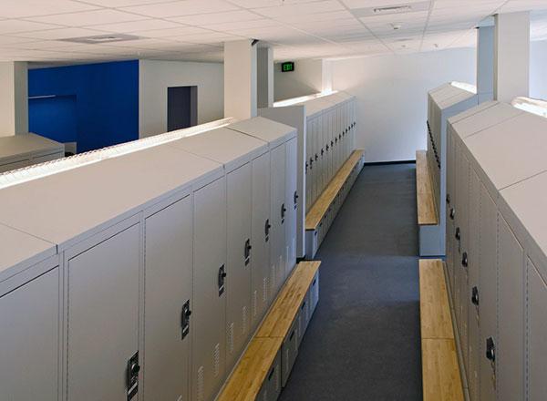 police locker room indirect lighting intergration
