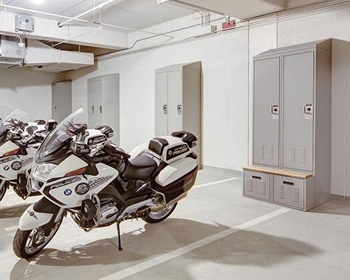 Lockers in Garage - Secure Equipment Storage