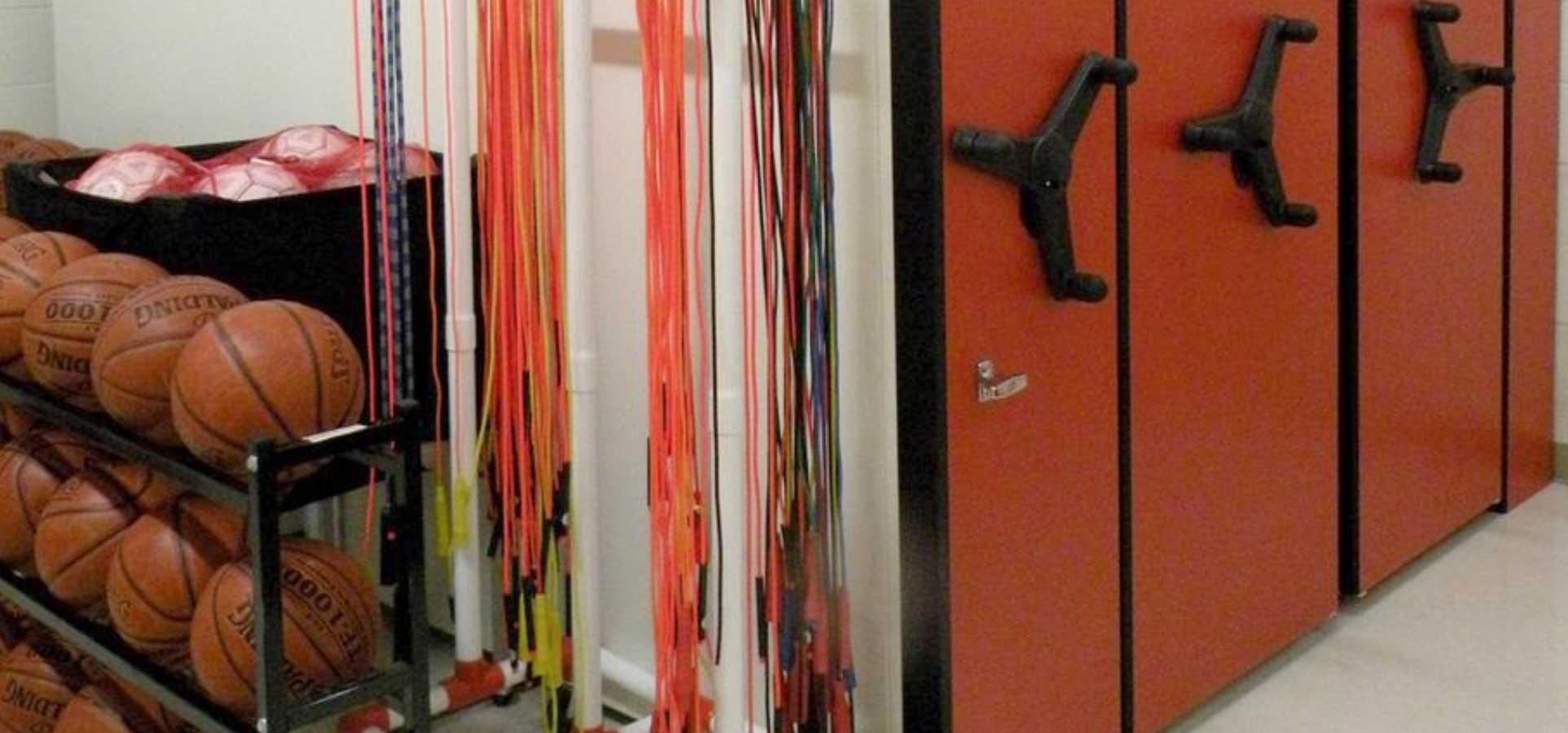 school sports equipment storage