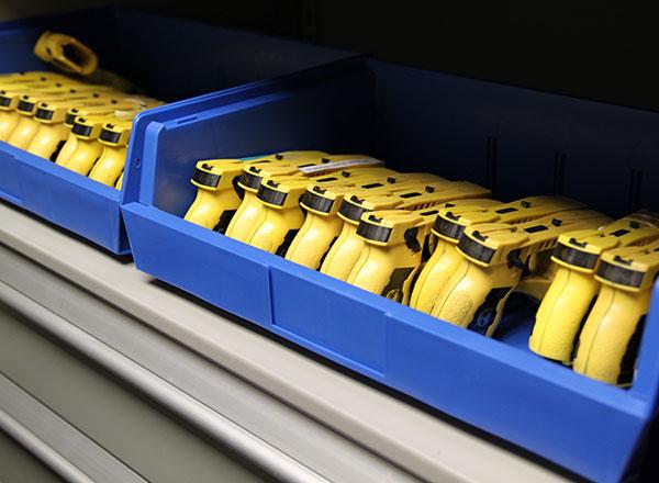 taser officer storage bin