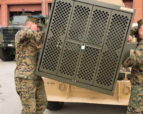 transport secure weapon storage