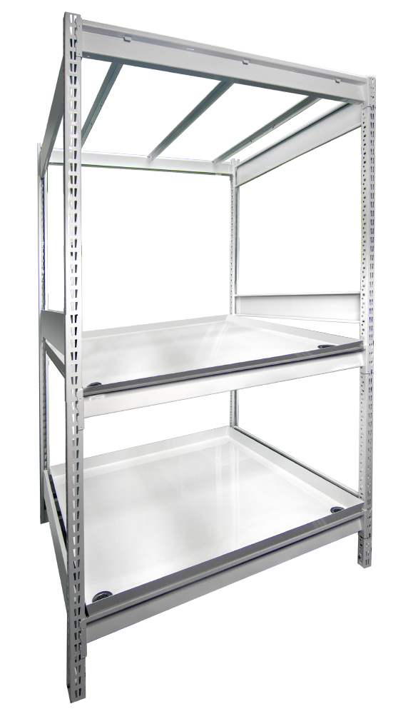 widespan heavy-duty indoor farming shelving table systems